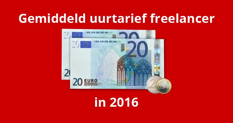 Gemiddeld uurtarief freelancer in 2016: 43 euro