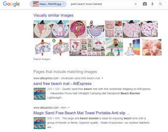 Een reverse image search levert soms het product bij een leverancier uit China op